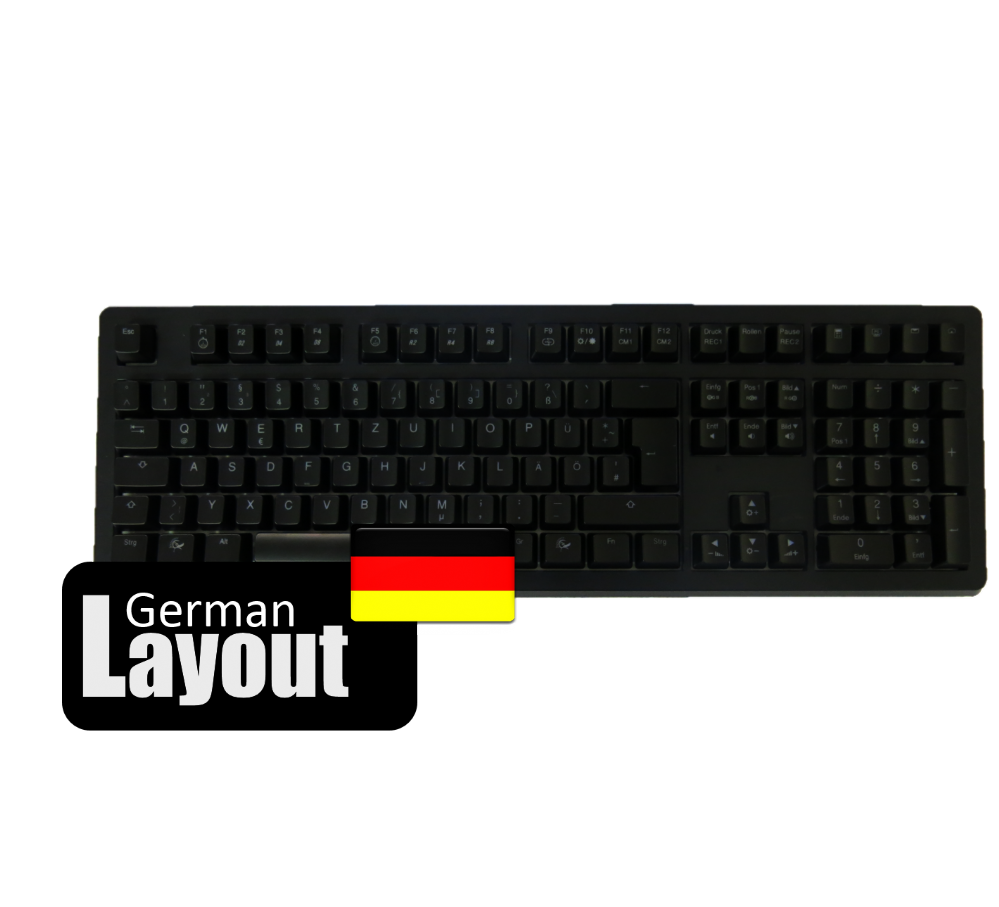 Ducky ABS Black Keycaps For Ducky Channel Shine 3 German